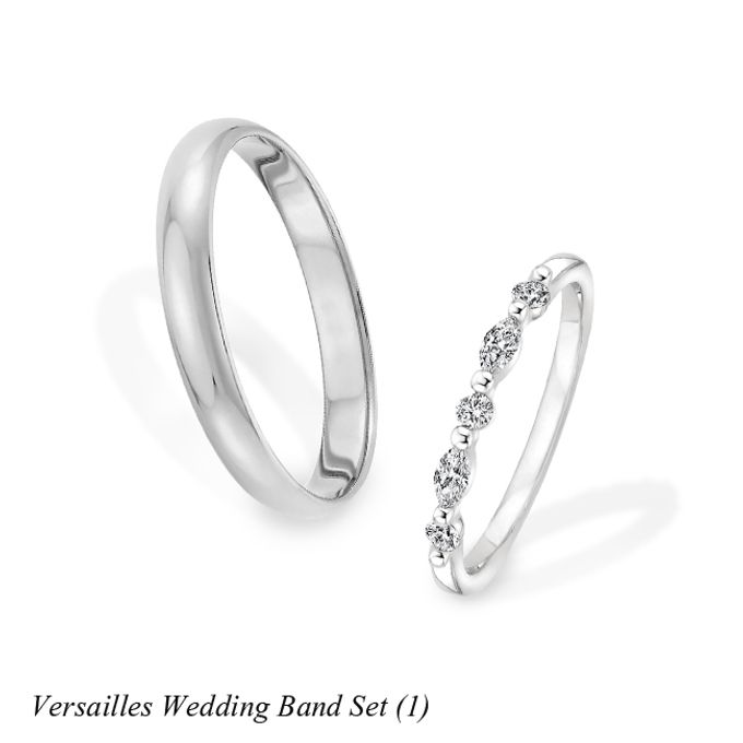 DIAMOND WEDDING BAND SET by Mirage Jeweler - 002