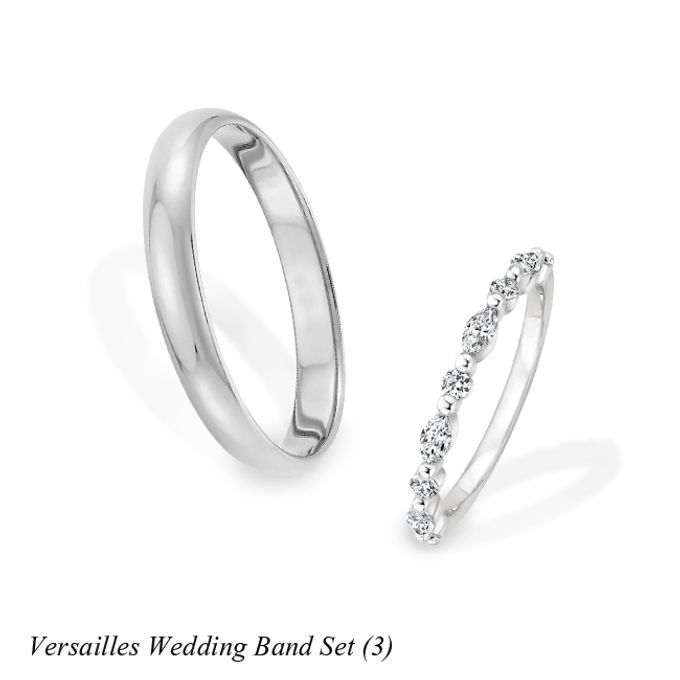 DIAMOND WEDDING BAND SET by Mirage Jeweler - 009