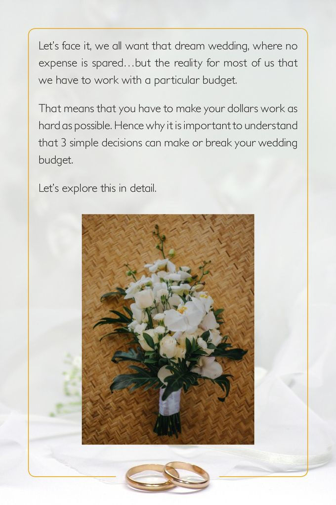 Three biggest cost decisions of your wedding by Balishanti Consulting - 002