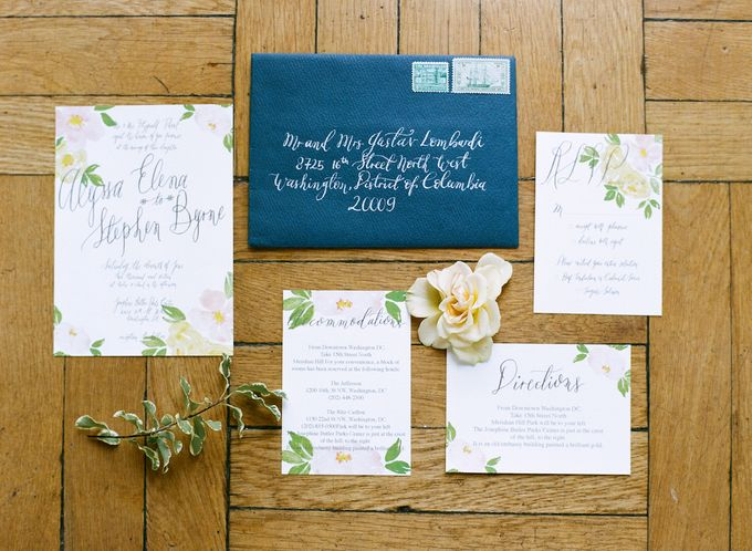 Spring Has Sprung - Wedding Invitation Style Shoot by Meilifluous Calligraphy & Design - 001