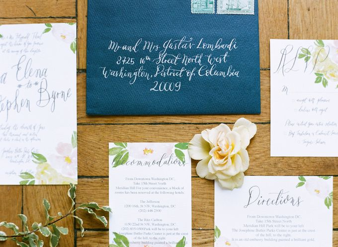 Spring Has Sprung - Wedding Invitation Style Shoot by Meilifluous Calligraphy & Design - 002