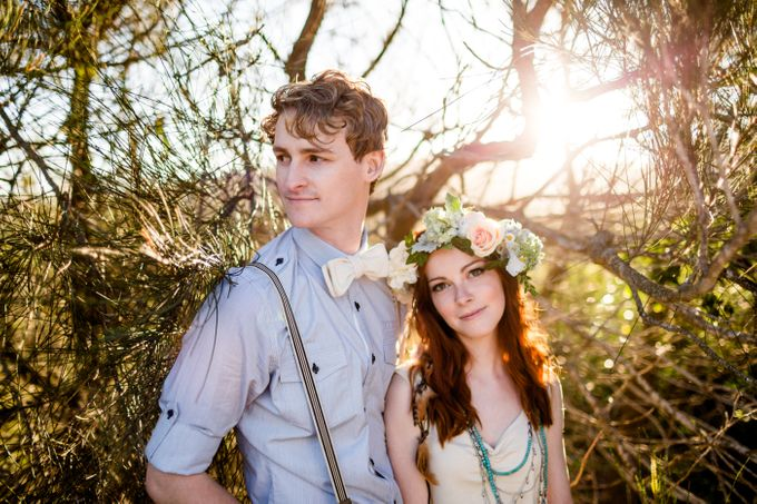 Romantic bohemian engagement shoot by Hilary Cam Photography - 001