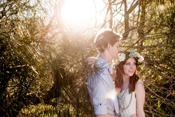 Romantic bohemian engagement shoot by Hilary Cam Photography - 002