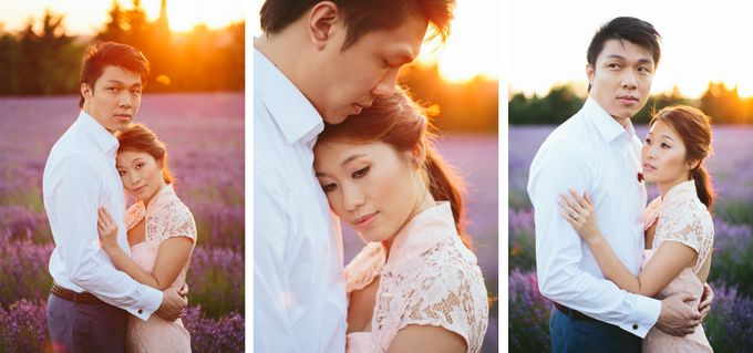 French engagement shoot in Provençal lavender fields by M&J Photography - 002