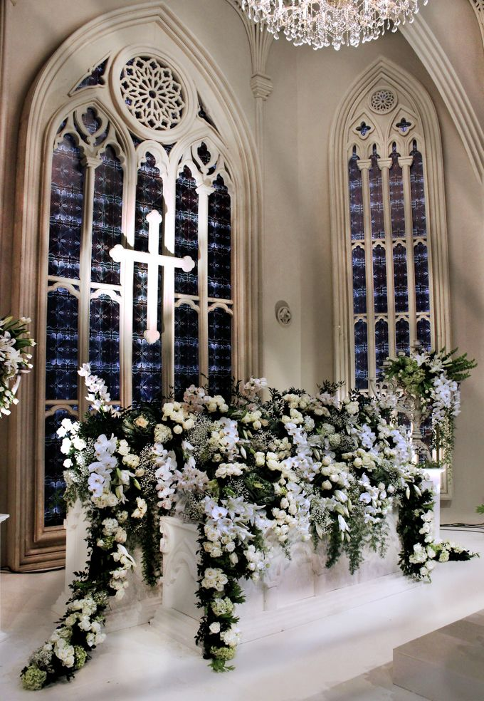 John and Xuan Wei's Holy Matrimony by Amarillis Floral and Party Decorator - 004