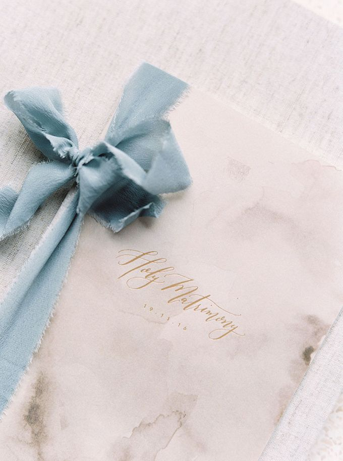 Sea & Sand Invitation Suite by Veronica Halim Calligraphy - 002