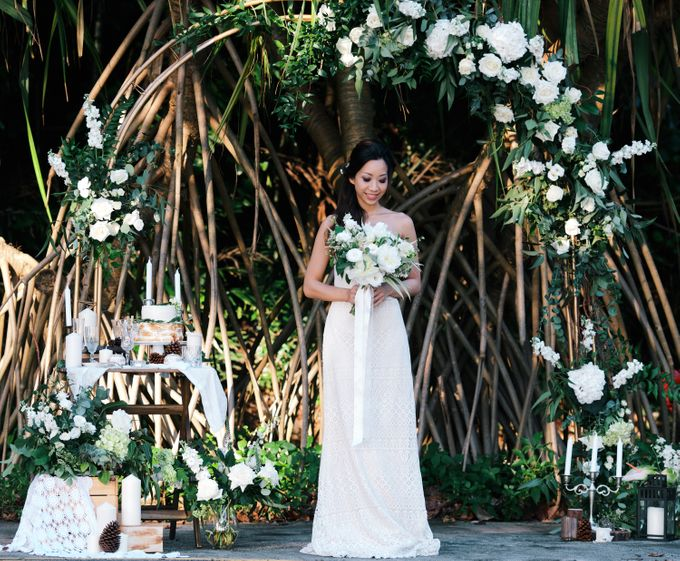 Botanical Sunset Wedding by The Prelude Bridal - 002