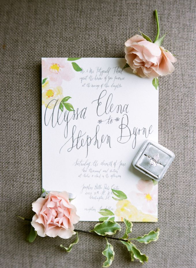 Spring Has Sprung - Wedding Invitation Style Shoot by Meilifluous Calligraphy & Design - 003