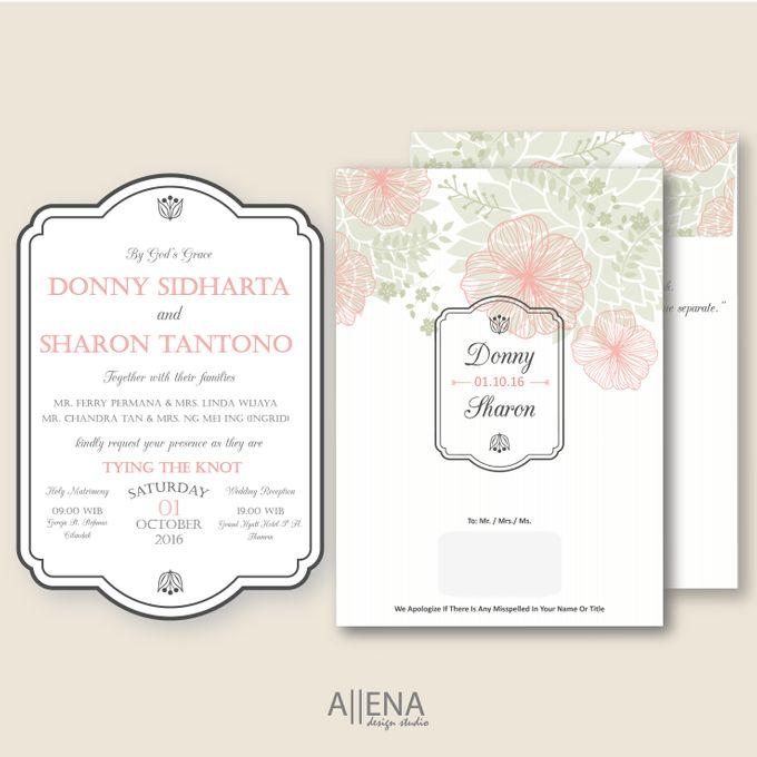 Wedding Invitation Donny Sharon By Allena Design Studio