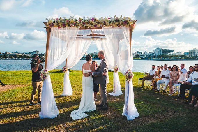 Wedding at Garden with cityview by Producciones Almendares - 007