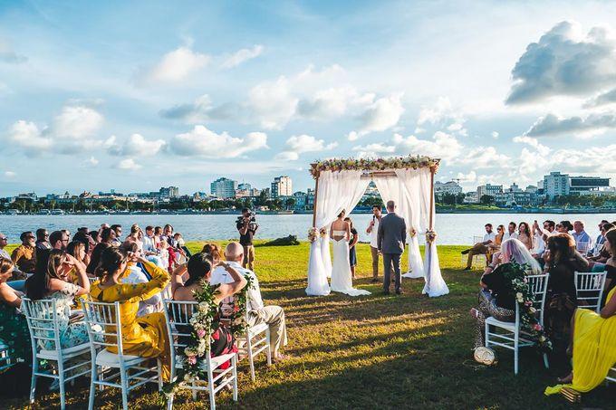 Wedding at Garden with cityview by Producciones Almendares - 013