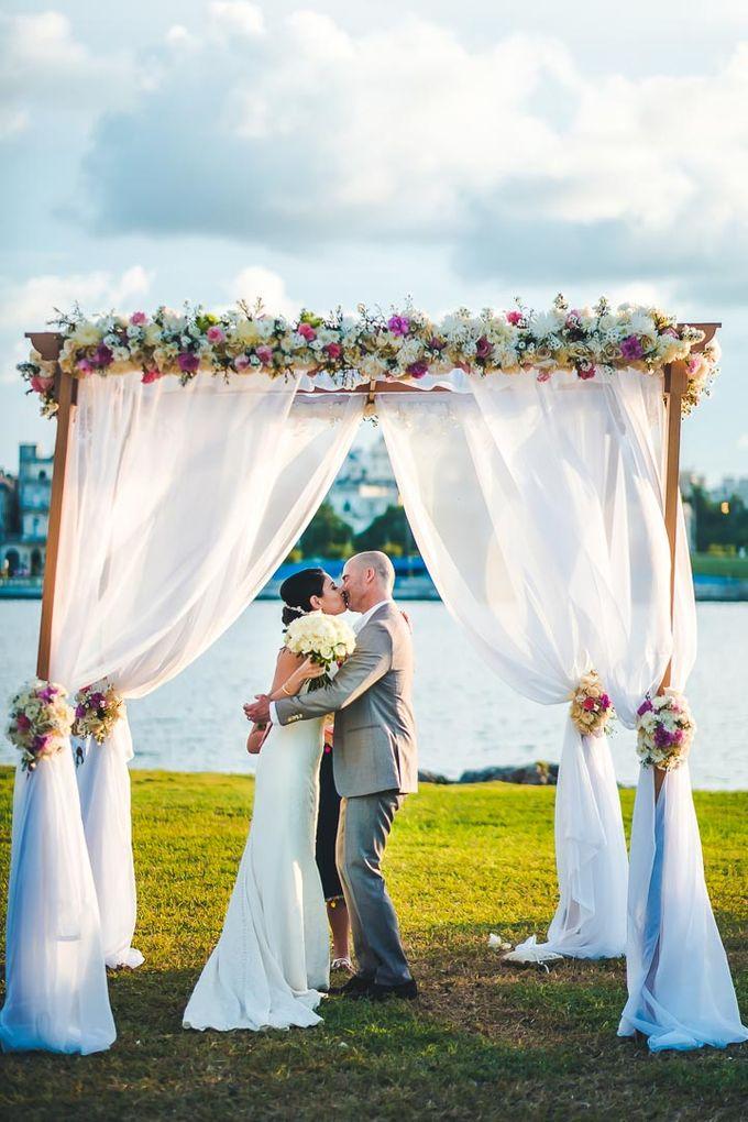 Wedding at Garden with cityview by Producciones Almendares - 008