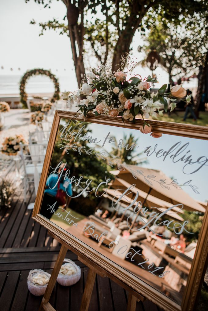 Wedding Ceremony Beach Front by Bali Izatta Wedding Planner & Wedding Florist Decorator - 002