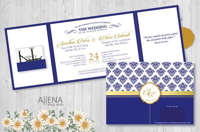 Wedding Invitation Jonathan Elvira By Allena Design Studio