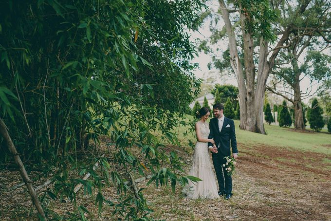 A country woodlands inspired wedding at Gabbinbar Homestead in Toowoomba by Deb Boots wedding photography - 009