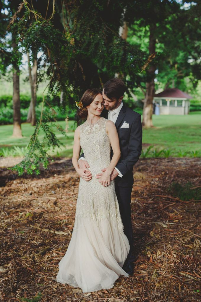 A country woodlands inspired wedding at Gabbinbar Homestead in Toowoomba by Deb Boots wedding photography - 011
