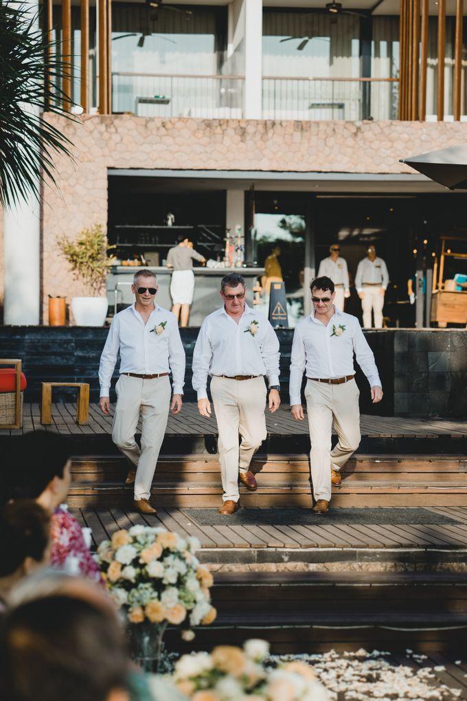 Wedding Ceremony Beach Front by Bali Izatta Wedding Planner & Wedding Florist Decorator - 006