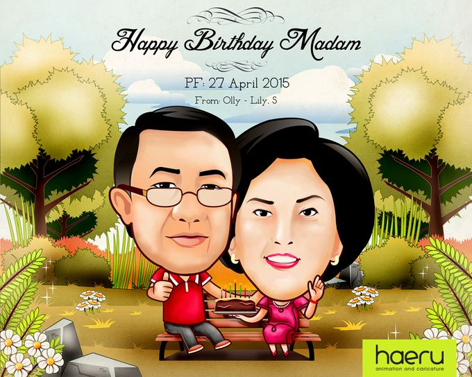 Premium Caricature for Gift by haeru Animation and Caricature - 001