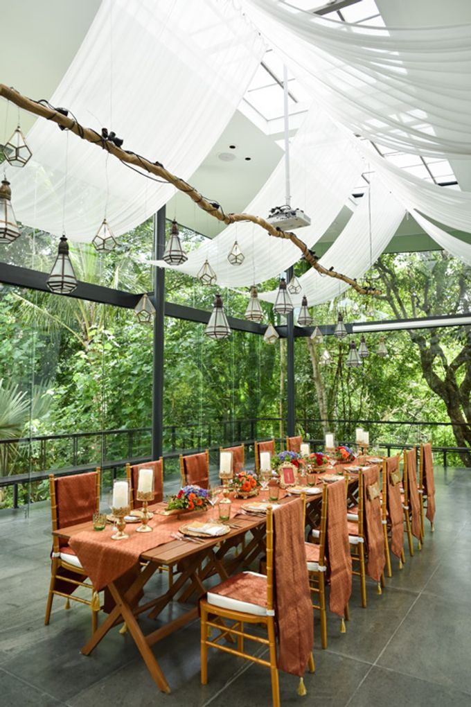 Minangkabau Traditional wedding set up at The Glass House by Tirtha Bridal - 002
