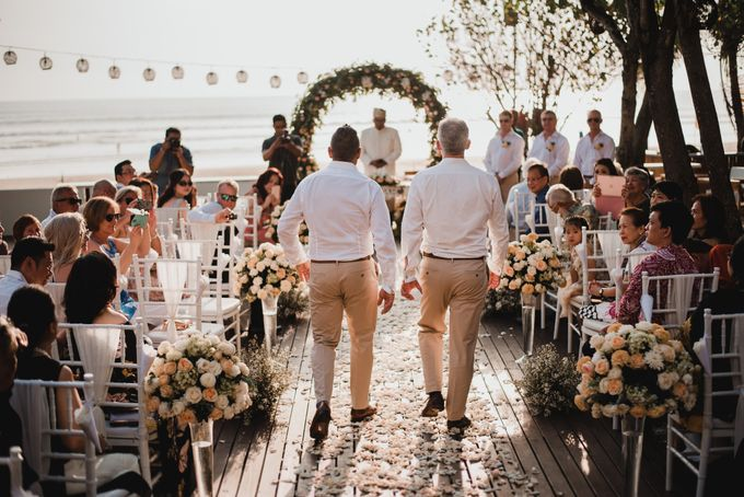 Wedding Ceremony Beach Front by Bali Izatta Wedding Planner & Wedding Florist Decorator - 004