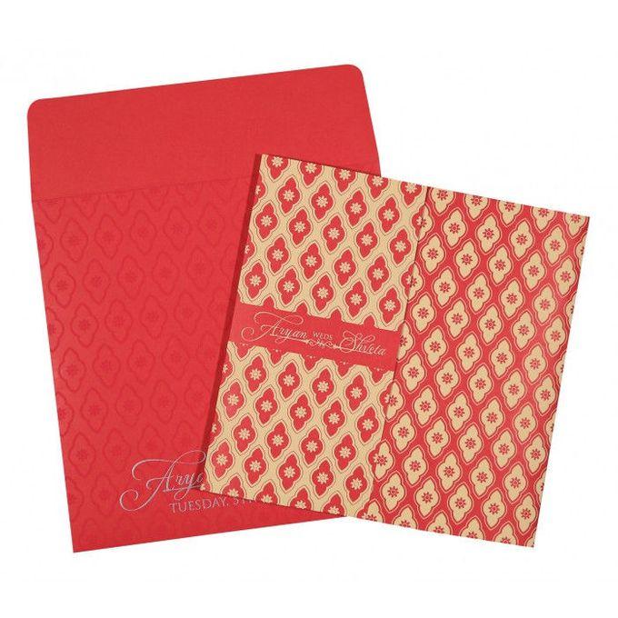 Wedding invitation design for Aryan & Shewta wedding by 123WeddingCards - 001