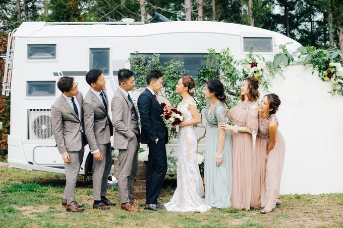 Cliff Top Ceremony by LANDRESS WEDDING - 008