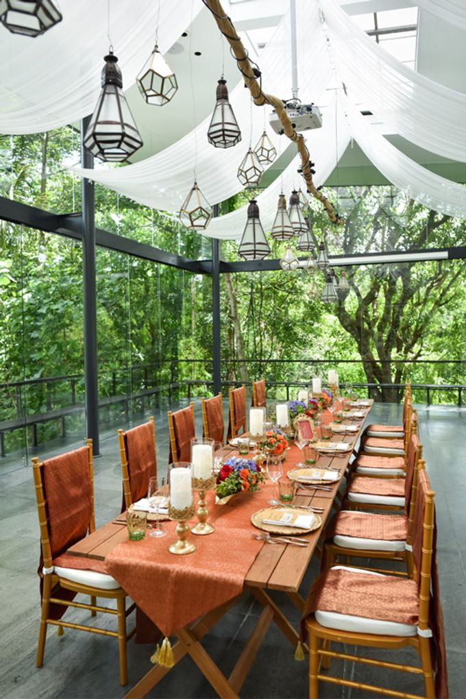 Minangkabau Traditional wedding set up at The Glass House by Tirtha Bali - 003
