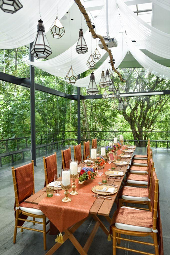 Minangkabau Traditional wedding set up at The Glass House by Tirtha Bridal - 003