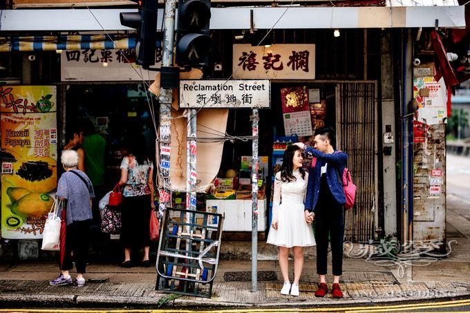 Bustling Street of Hong Kong by Cang Ai Wedding - 003
