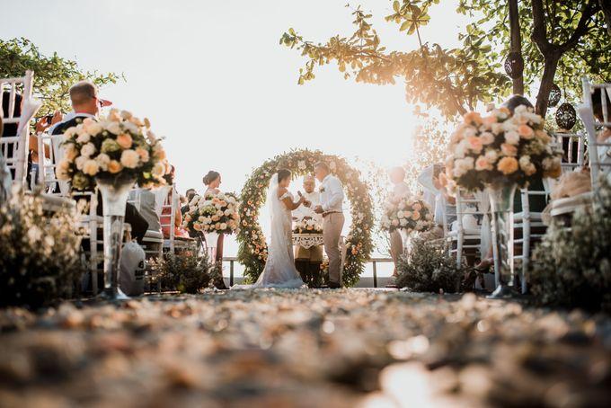 Wedding Ceremony Beach Front by Bali Izatta Wedding Planner & Wedding Florist Decorator - 008