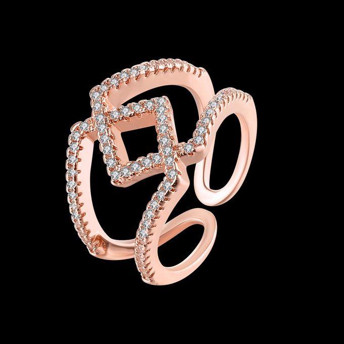 TIARIA Diamond Stack Gold Ring Perhiasan Cincin Emas Berlian by TIARIA - 005