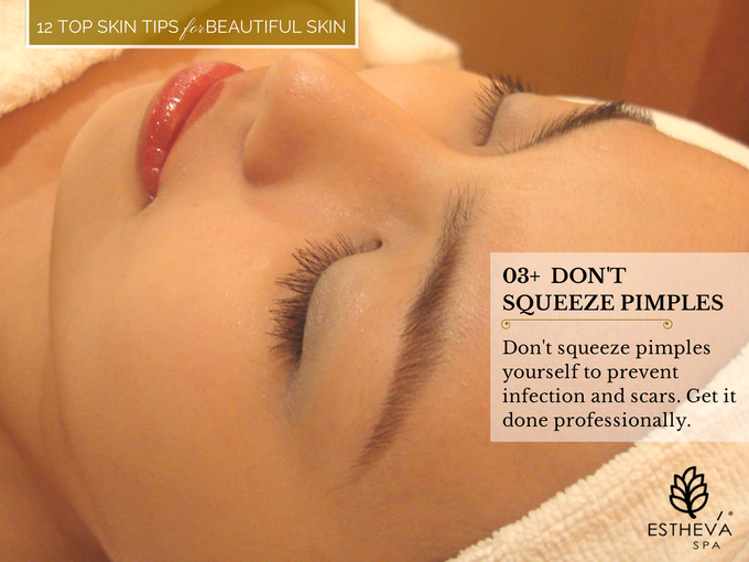 Top 12 Skincare Tips for Beautiful and Younger Skin by ESTHEVA Spa - 004