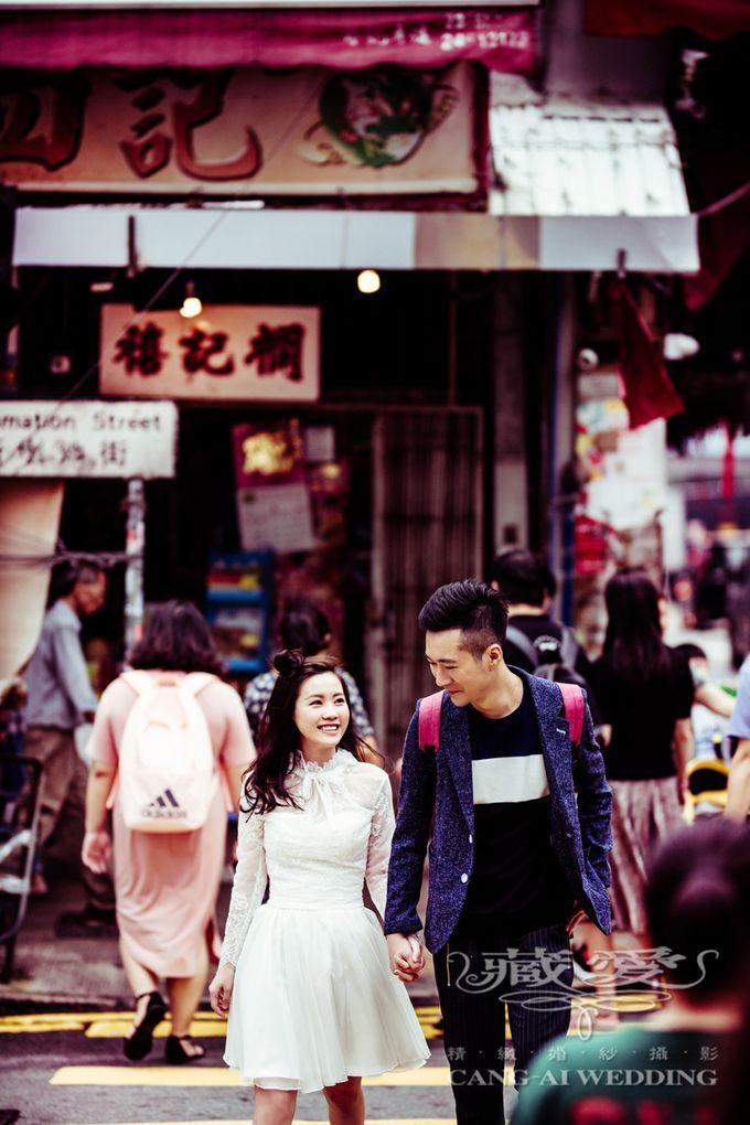 Bustling Street of Hong Kong by Cang Ai Wedding - 004