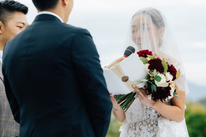 Cliff Top Ceremony by LANDRESS WEDDING - 005
