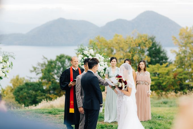 Cliff Top Ceremony by LANDRESS WEDDING - 004