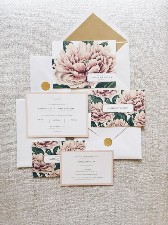 Lush Peonies by Spinsugar Stationery - 001