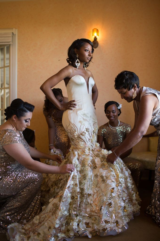 Couture Gold Wedding Gown by Desiree Spice - 001
