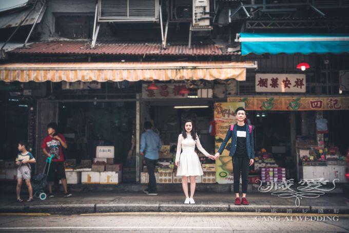 Bustling Street of Hong Kong by Cang Ai Wedding - 005