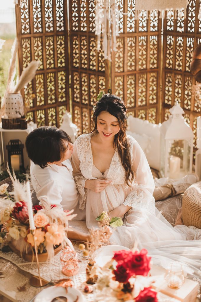 Bohemian Beach Picnic Styled Shoot by Whimsey June - 003