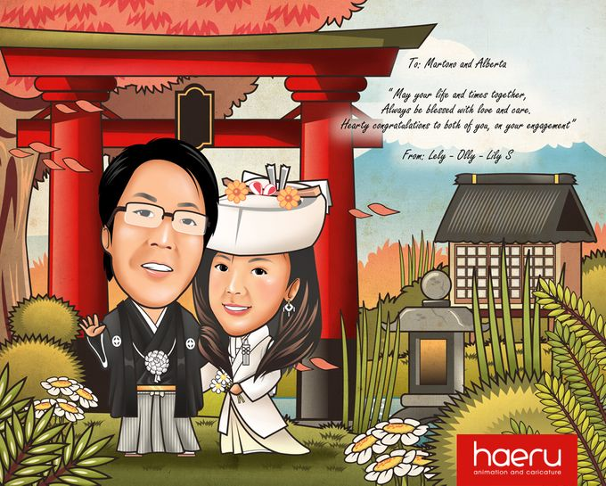 Premium Wedding Caricature by haeru Animation and Caricature - 002