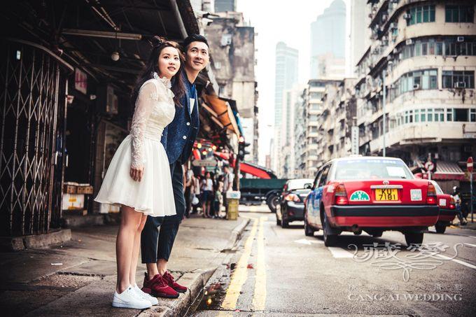 Bustling Street of Hong Kong by Cang Ai Wedding - 006