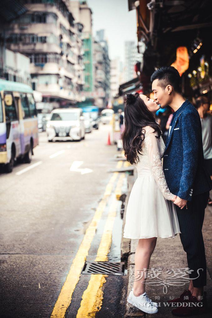 Bustling Street of Hong Kong by Cang Ai Wedding - 007