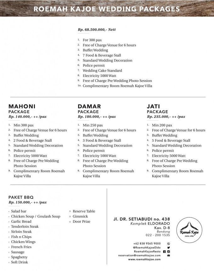 Roemah Kajoe Wedding Package by Roemah Kajoe - 001