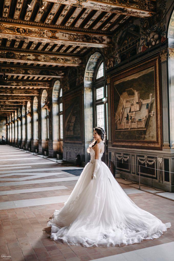Exclusive Paris Pre Wedding Photo Shoot at Château de Fontainebleau by Février Photography   Paris Photographer - 003