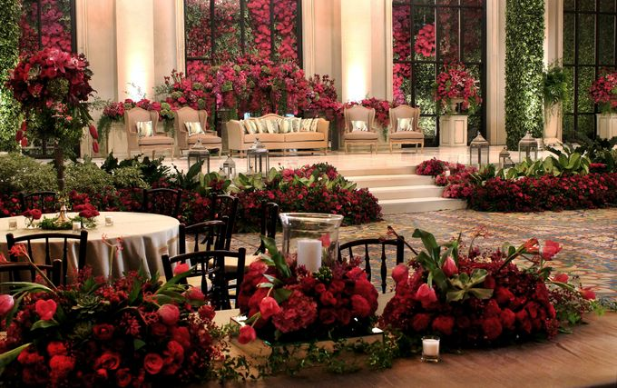 John and Xuan Wei Wedding Reception by Amarillis Floral and Party Decorator - 002