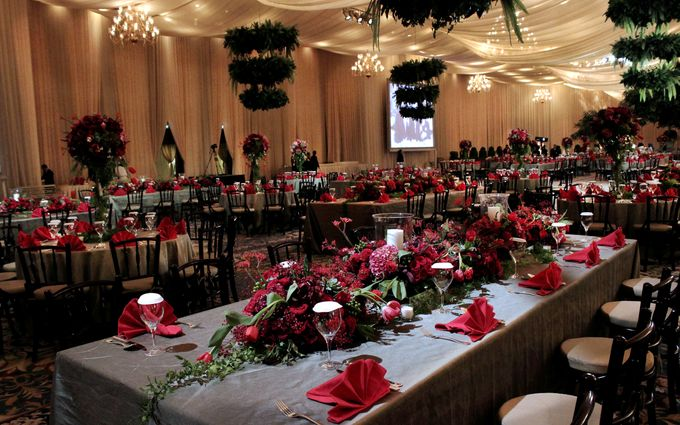John and Xuan Wei Wedding Reception by Amarillis Floral and Party Decorator - 003