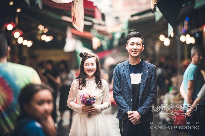 Bustling Street of Hong Kong by Cang Ai Wedding - 008