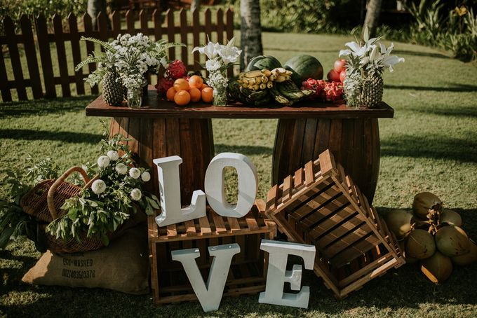 Bali Greenery Rustic with Boho Touch Wedding Decoration by Eurasia Wedding - 006