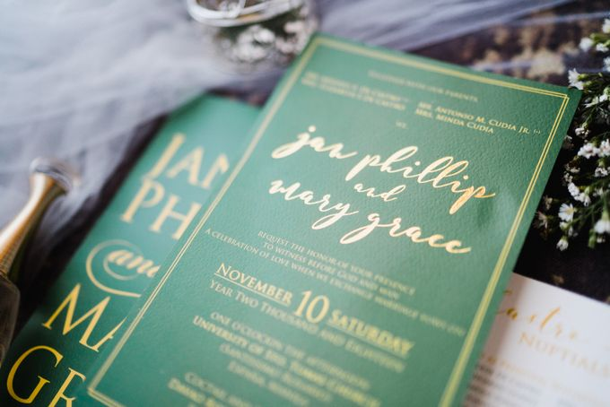 An Emerald  Green themed wedding of Phillip and Grace by Peach Frost Studio - 003