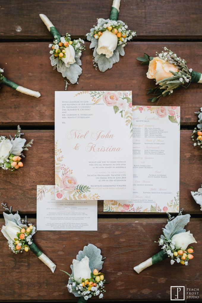 A Peach Themed Tagaytay Woodlands Wedding of Tina & Niel by Peach Frost Studio - 002